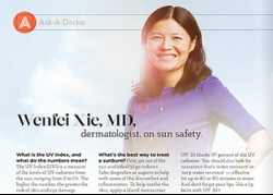 Wenfei Xie, MD, dermatologist, on sun safety